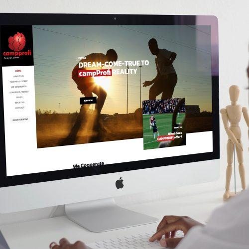 Campprofi Website Mockup
